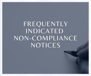 Frequently indicated non-compliance notices Part 2