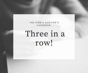 The PIRB Casebook Three in a row