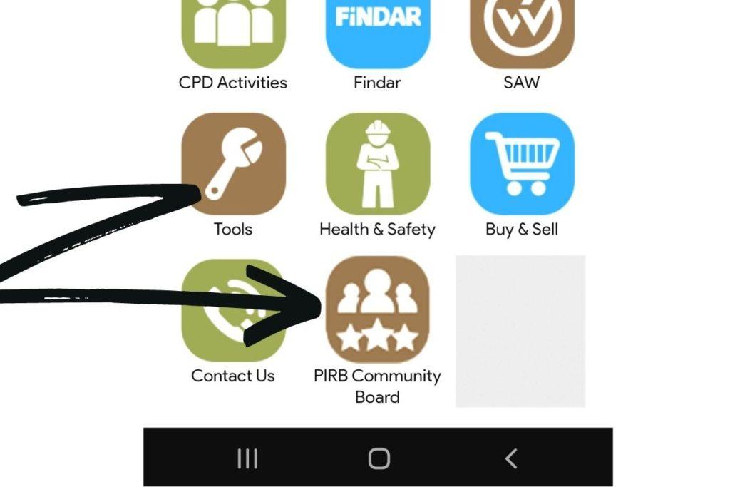 PIRB Community Board FAQ Steps