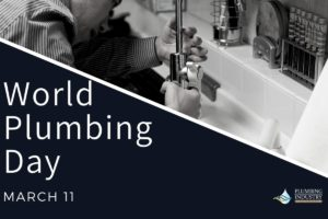 World Plumbing Day March 11 banner